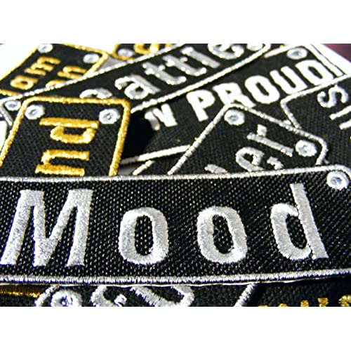 8185a23156 Personalised Name Patches Sew Iron On Badge Tag Bag Hat Jeans Club Biker  Trinker (Large