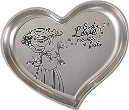 Precious Moments 172432 God's Love Never Fails Heart Shaped Zinc Alloy Trinket Tray,