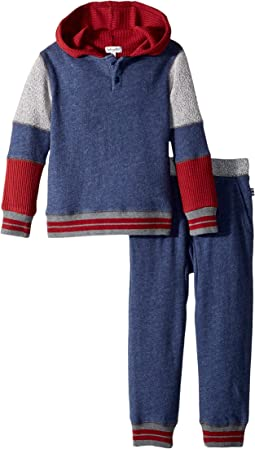 Splendid Littles - Mixed Fabric Hoodie Set (Toddler)