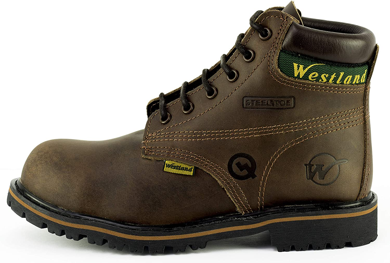 Westland Mens 6 Tomcat EH Steel Toe or Composite Toe Water Resistant Leather Work Boots