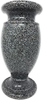 Optimum Memorial Cemetery Flower Vase (Simulated Black Granite)