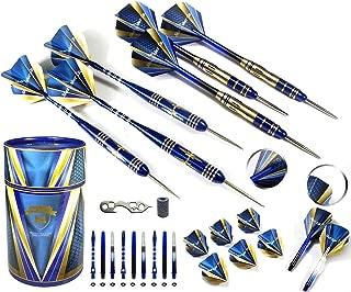 Professional Darts Set - Customizable Configuration 6 Steel Tip Darts (2 Styles) | 18 Shafts (3 Styles) |8 Standard Flights (2 styles)| 12 O-Rings | Darts Tool | Darts Sharpener | Case