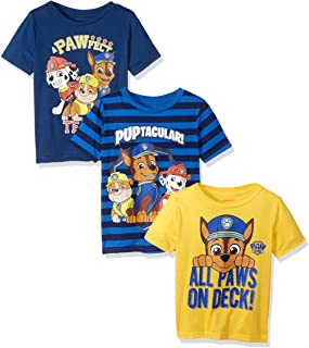 Nickelodeon Boys' Paw Patrol 3 Pack Tees