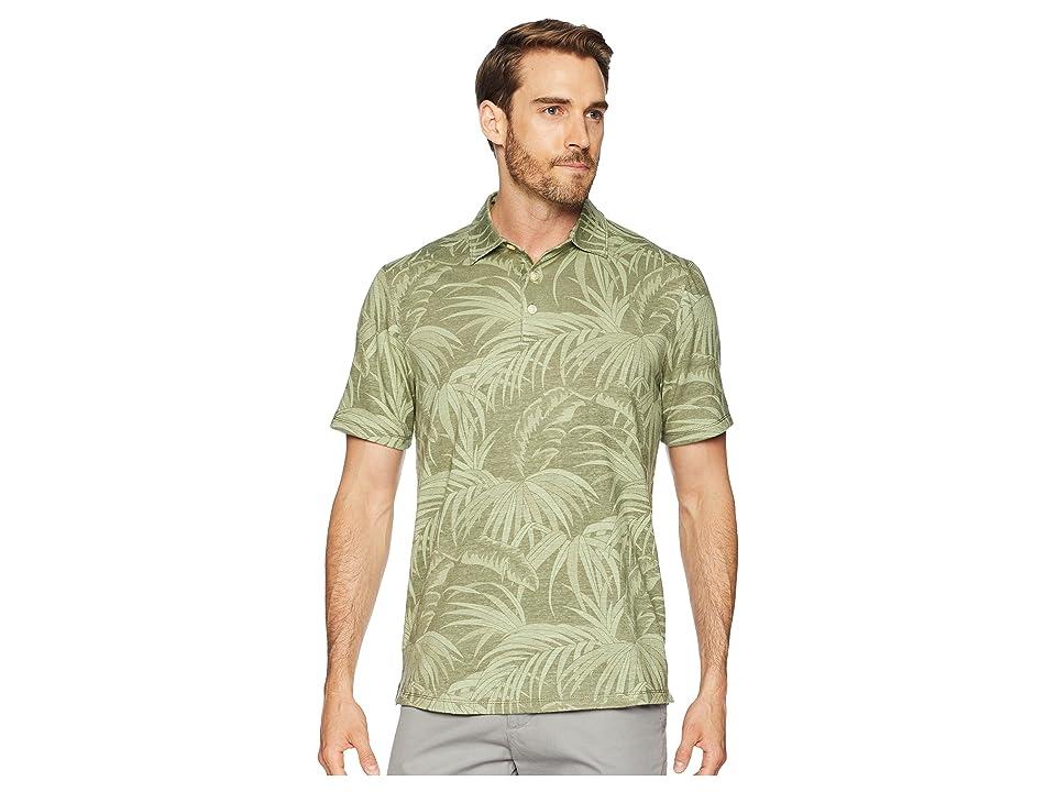 Tommy Bahama Midnight Flora Polo Shirt (Dusty Thyme) Men