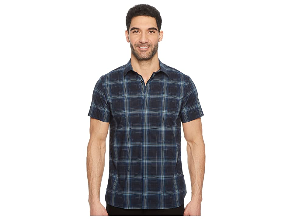 Calvin Klein Exploded Plaid Woven Shirt (Black) Men