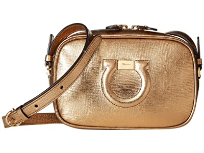 Salvatore Ferragamo City Crossbody (Oro) Cross Body Handbags