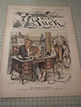 1887 Puck Magazine: The Palace of Poverty - Restless Nights for Newspaper Editors - Strange Bedfellows Hotel