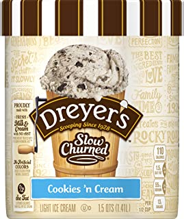 Dreyer's, Slow Churned Light Cookies N' Cream Ice Cream, 1.5 qt (Frozen)