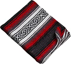 Threads West Premium Large Heavyweight Mexican Falsa Throw Blanket, Serape Stripe Yoga Blanket, Beach Blanket Available in 2 Sizes!