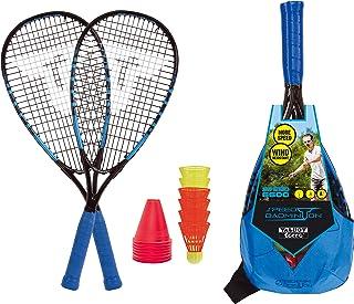 comprar comparacion Talbot Torro 490116 Badminton Speed 6600, Excelente Juego Completo, 2 Raquetas de Aluminio de 58.5cm, 6 Volantes Resistent...