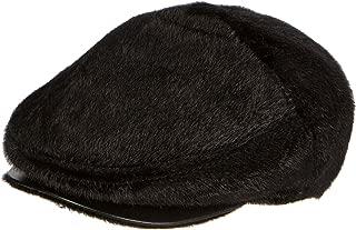 Sakkas Faux Mink Fur Back Flap Ivy Driving Newsboy Cap Hat Adjustable Snap Front