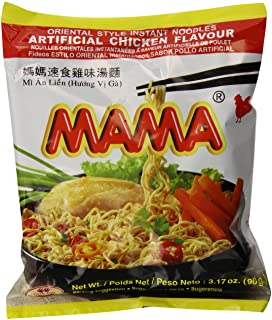Mama Instant Noodle, Chicken Soup Flavor, 3.17 Ounce (Pack of 20)