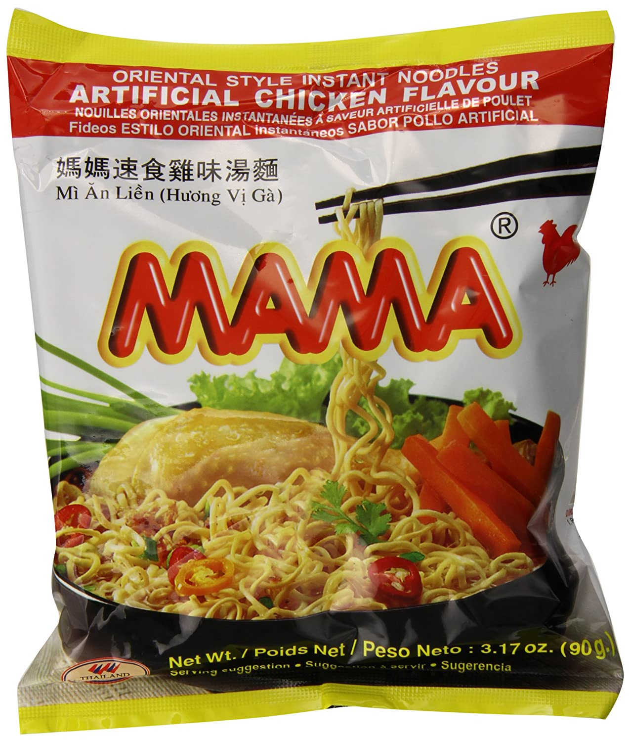 Mama Instant Noodle Chicken Soup Flavor Ounce of Max 70% OFF Direct stock discount Pack 20 3.17