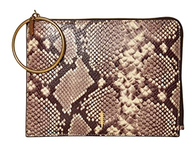 THACKER Gable Ring Travel Pouch (Natural Python) Clutch Handbags