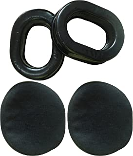 UFQ Comfort Gel Undercut Ear Seals for UFQ David Clark Kore Avcomm Pilot-USA ASA Flightcom Faro Aviation Headsets with Premium Deluxe Velours Cloth Ear Seal Covers