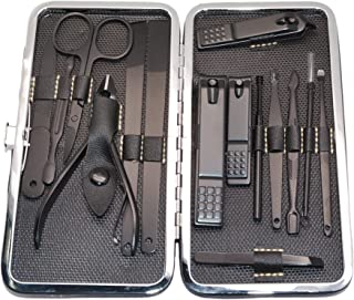 Vealind Manicure Pedicure Set Stainless Steel 15 Pieces Nail Cutters Trimmers Toe and Nail Clippers Set