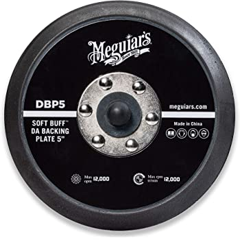 "MEGUIAR'S 5"" Soft Buff DA Backing Plate – Use with MT300 Dual Action Variable Speed Polisher – DBP5"