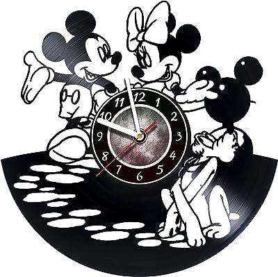 30 cm Mickey and Minnie Vinyl Clock Original Idea for Home Decor Mickey and Minnie Wall Clock 12 inch Original Gifts for Fans Mickey and Minnie Unique Art Decor The Best Home Decorations