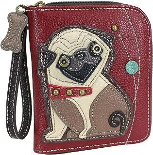 Chala Pug Zip-Around Wristlet Wallet, Pug Mom Gift