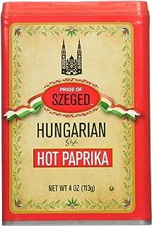 Szeged Hot Paprika Seasoning Spice, 4 Ounce