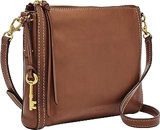 Fossil Women's Emma East West Leather Crossbody Cross Body Bag Baguette