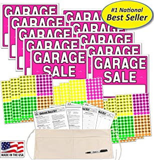 Garage Sale Sign Kit with Pricing Stickers and Change Apron (A502G)