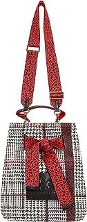 CODELLO Damen Tasche, Beuteltasche | Glencheck | 100% Baumwolle Canvas |23 x 31 x 16,5 cm