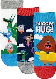 Hey Duggee, Calcetines Paquete de 3 para Niños Club de las Ardillas