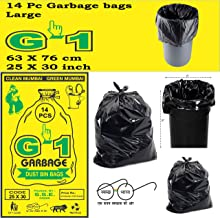 G1 Garbage Bags And Covers Large Size Black Color 25 X 30 Inch Pack Of 20 280 Pieces