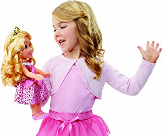 "Disney Princess Aurora Doll Sleeping Beauty Sing & Shimmer Toddler Doll, Princess Aurora Sings ""Once Upon A Dream"" When You Press Her Jeweled Necklace [Amazon Exclusive]"