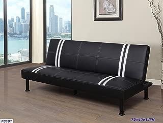 Beverly Furniture F3101 Futon Convertible Sofa Black/White