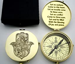 good luck saying engraved Compass, Birthday, Anniversary, Baptism, Graduation, Christmas, New year, unusual gift, blessings, good Saying, graduation, fathers day, Get well soon