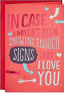 بطاقة عيد الحب هالمارك المنبثقة للزوج، الزوجة، الصديقة، الصديقة (إشارات أن أحبك)