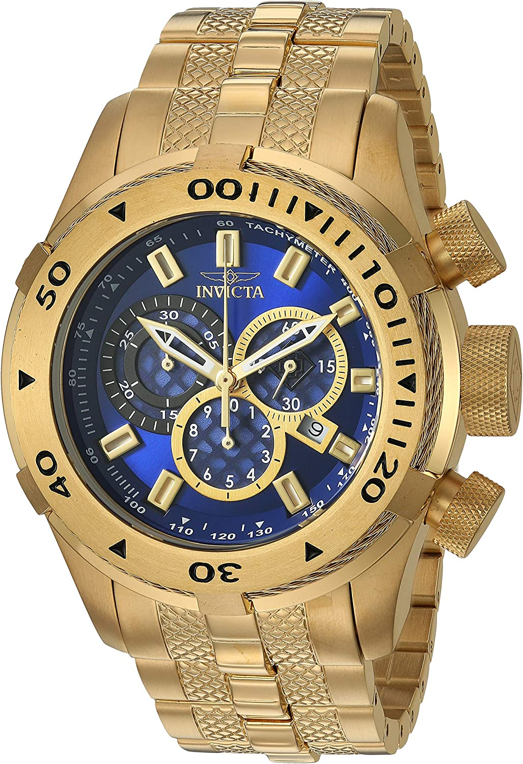 Invicta Men's OFFicial Bolt Quartz Watch with Steel Strap Gold Now on sale Stainless