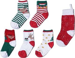 Growbabygrow Baby Toddler Kids Christmas Crew Socks for gift