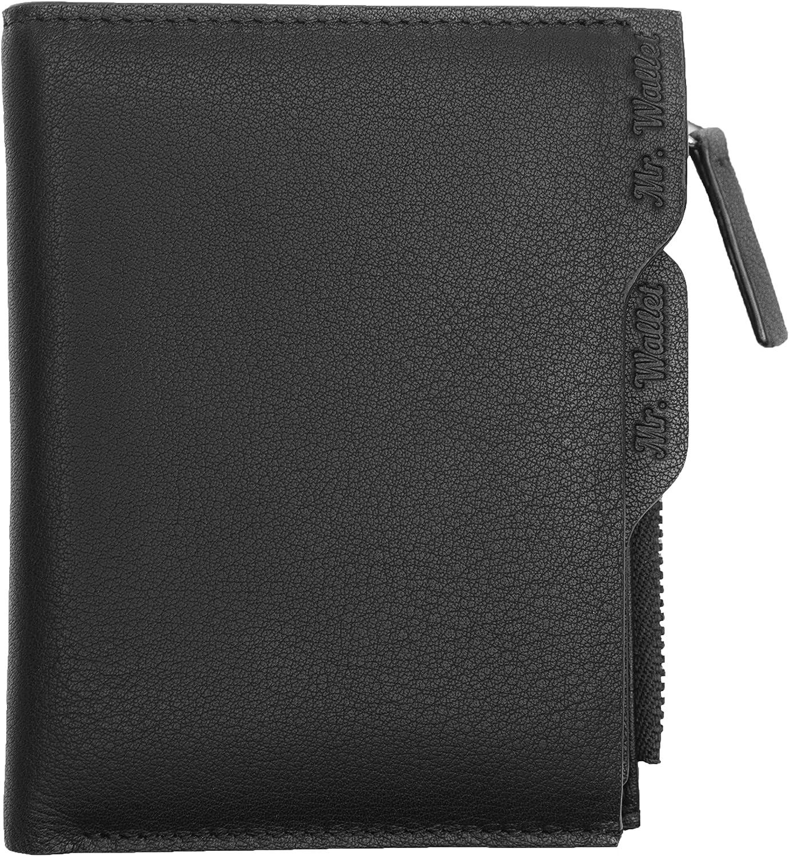 Mr. Wallet Mens Rfid Blocking Slim Bifold Leather greenical Wallet - Coin Pocket