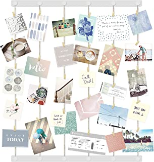Umbra Hangup Display-DIY Frames Collage Set Includes Picture Wire Twine Cords, Wall Mounts and Clothespin Clips for Hangin...