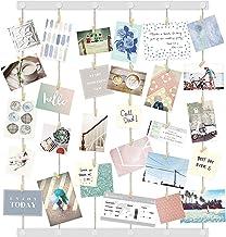 مجموعة إطارات Umbra Hangup - DIY تتضمن أسلاك خيط صور ، حوامل جدار ومشابك ملابس لتعليق الصور والمطبوعات والأعمال الفنية 32...