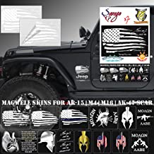 """SAVAGE XP Tattered American Flag Sticker Sheet and Decal Pack 