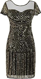 PrettyGuide Women's Gatsby Dress 1920s Bead Sequin Deco Cocktail Flapper Dress