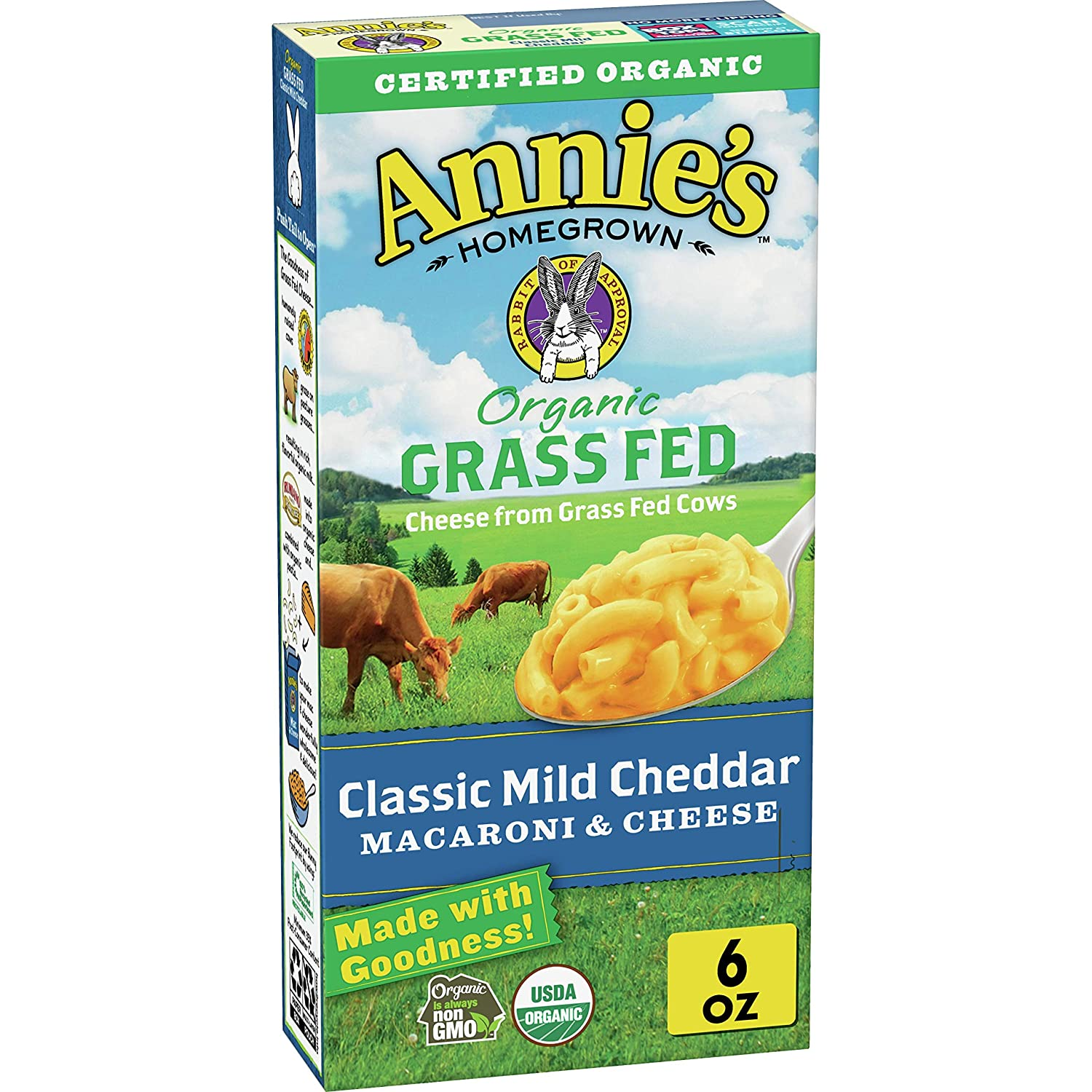 Annie's OFFicial 2021 autumn and winter new store Organic Classic Mild Cheddar Cheese and Macaroni Grass