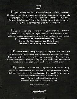 Desiderata Gallery If Poem by Rudyard Kipling in 1895. (Author of The Jungle Book) Blackboard Chalk Art 11x14 in.