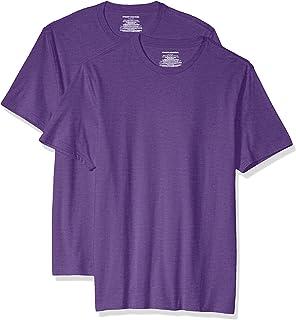 Amazon Essentials Hombre Camiseta de cuello a la caja de algodón, manga corta y ajuste entallado, Pack de 2