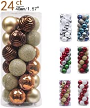 Valery Madelyn 24ct 40mm Essential Copper Gold Basic Ball Shatterproof Christmas Ball Ornaments Decoration for Christmas Tree