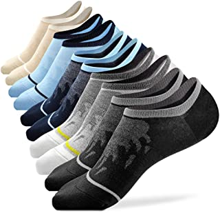Busy Socks Mens No Show Low Cut Socks Women's Invisible Liner Thin Socks with Non-Slip Heel Grips,Recycled Socks,1/5 Pack