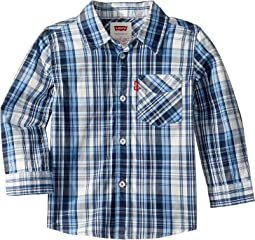 Long Sleeve One-Pocket Plaid Shirt (Toddler)