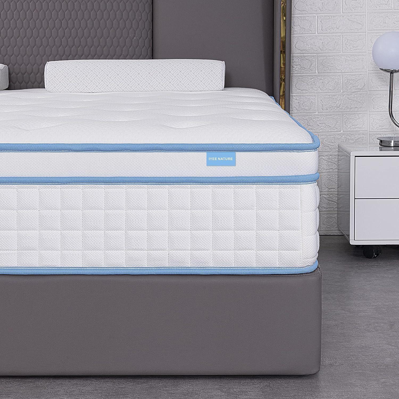 King Sacramento Mall Mattress IYEE NATURE 10 Indi Inch Size Hybrid 5 ☆ popular
