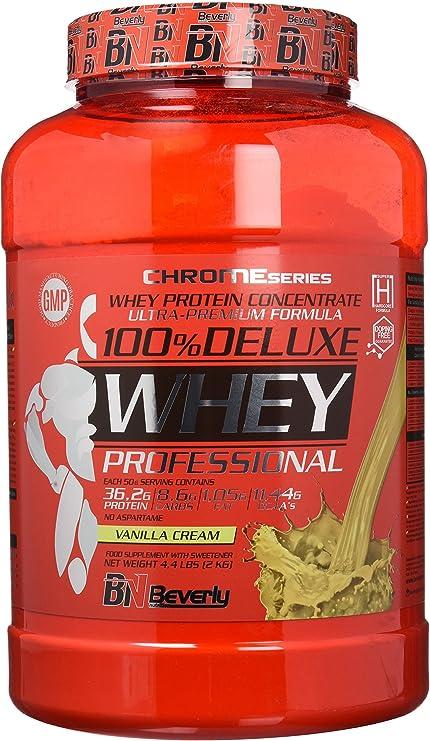 Beverly Nutrition 100% Deluxe Whey Professional Proteína Concentrada Sabor Galleta y Crema - 2000 gr