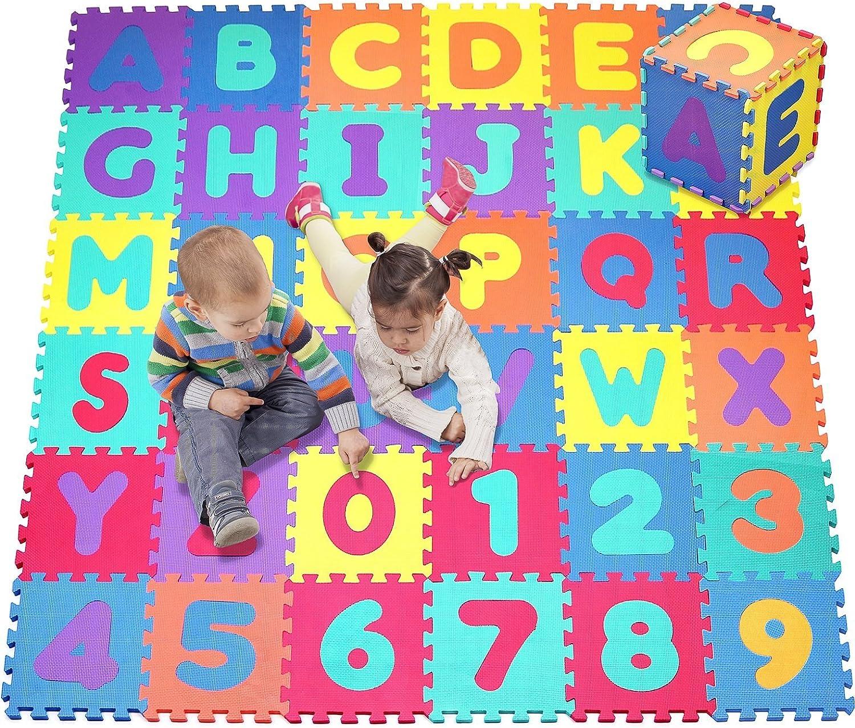 Click n' Play, Schaumstoff Alphabet und Zahlen Puzzle Play Matte, 36Fliesen (Tile Gre–12x 30,5cm)