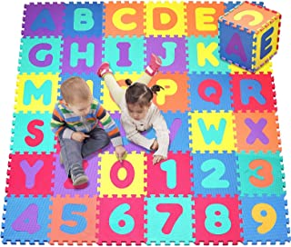 Click N' Play, Alphabet and Numbers Foam Puzzle Play Mat, 36 Tiles (Each Tile Measures 12 X 12 Inch for a Total Coverage o...